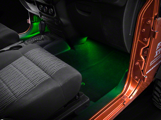 Axial 15 in. LED Strips - Green (87-19 Jeep Wrangler YJ, TJ, JK & JL)