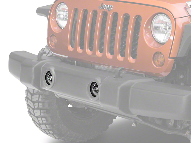 Recon Smoked 4 in. LED Fog Lights (07-17 Wrangler JK)