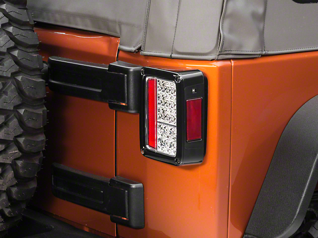 Recon Clear Led Tail Lights 07 18 Jeep Wrangler Jk