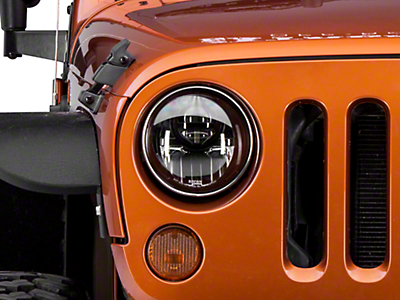 Recon Smoked LED Projector Headlights (07-18 Wrangler JK)
