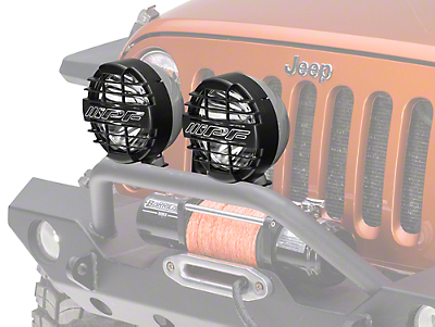 ARB 8 in. IPF 900XS Extreme Round Halogen Lights - Spot Beam - Pair (87-18 Wrangler YJ, TJ & JK)