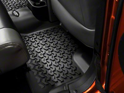 Add Rugged Ridge Rear Floor Liner 1-Piece, 2nd Row, Black