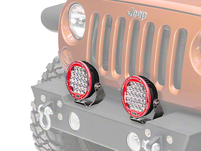 ARB Intensity 7 in. Round 21 LED Light - Flood Beam (87-17 Wrangler YJ, TJ & JK)