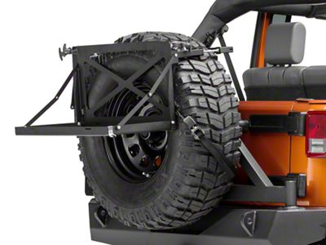 Morryde Jeep Wrangler Excursion Rack For Spare Tire Jp56