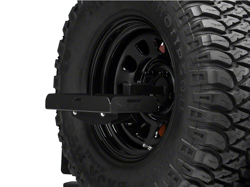 MORryde Spare Tire Jerry Can Holder w/ Short Tray (87-18 Jeep Wrangler YJ, TJ & JK)
