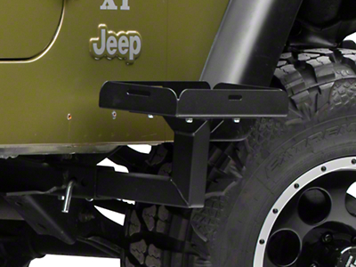 MORryde Frame Side Mount Jerry Can Holder w/ Short Tray (87-06 Jeep Wrangler YJ, TJ)