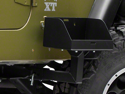 MORryde Frame Side Mount Jerry Can Holder w/ Tall Tray (87-06 Wrangler YJ & TJ)