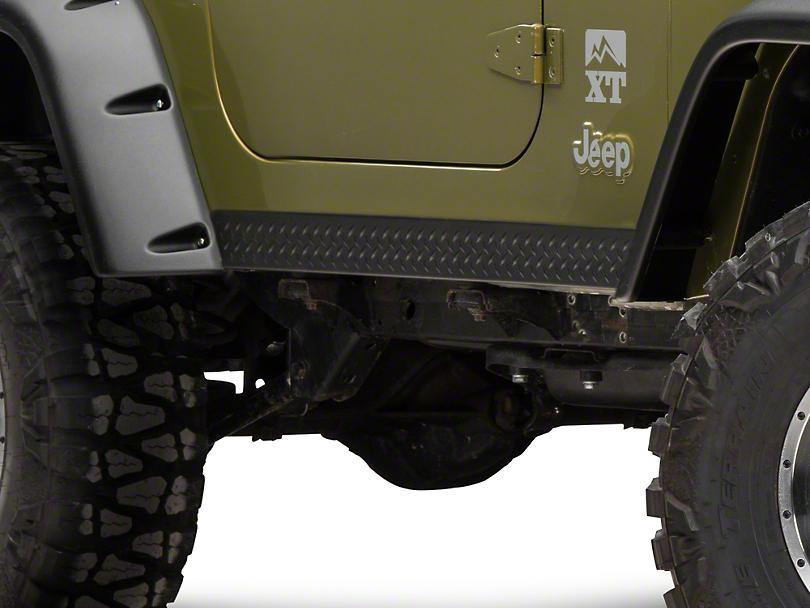 Bushwacker Textured DiamondBack Six Piece Set for Pocket Style Fender Flares (97-06 Jeep Wrangler TJ)