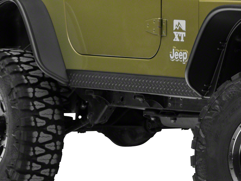 Bushwacker Textured DiamondBack Six Piece Set for Flat Style & Factory Flares (97-06 Jeep Wrangler TJ)