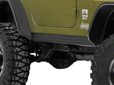 Bushwacker Textured DiamondBack Six Piece Set for Flat Style & Factory Flares (97-06 Jeep Wrangler TJ)