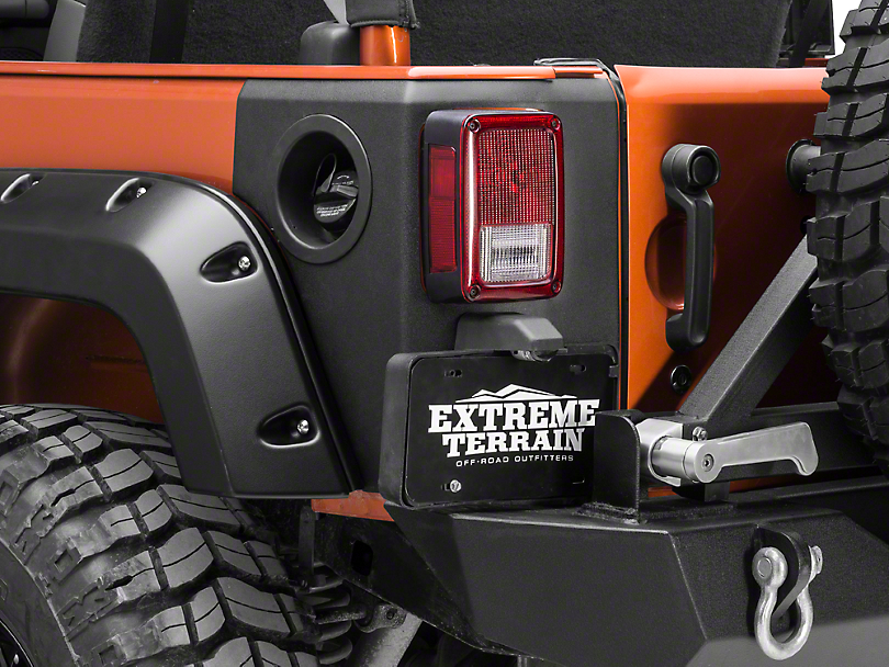Bushwacker Rear Trail Armor Corners (07-18 Wrangler JK 4 Door)