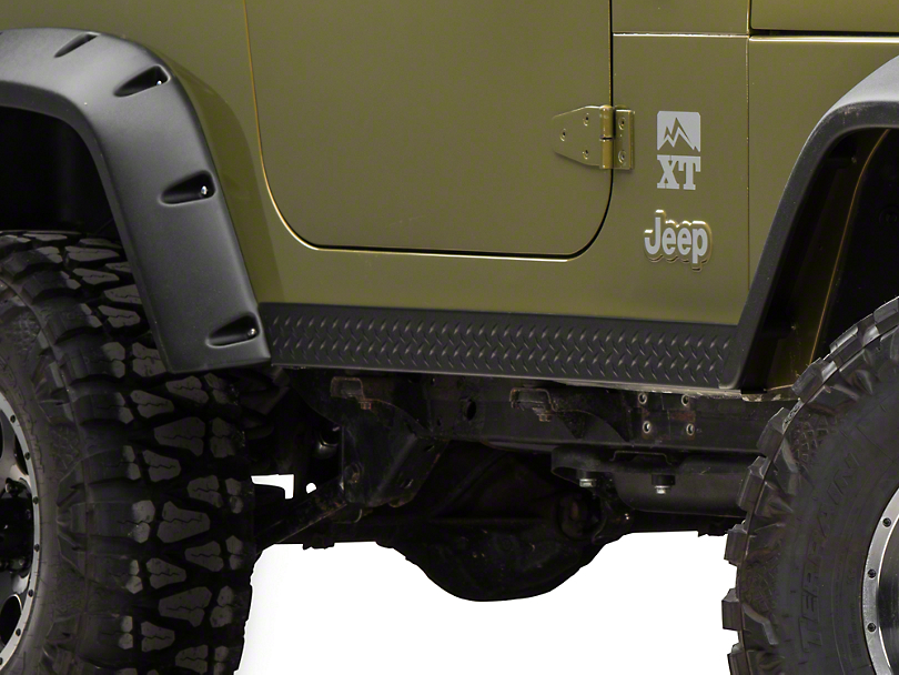Bushwacker Textured DiamondBack Side Rocker Panels - Pair (97-06 Jeep Wrangler TJ, Excluding Unlimited)