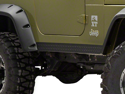 Bushwacker Textured DiamondBack Side Rocker Panels - Pair (97-06 Wrangler TJ)