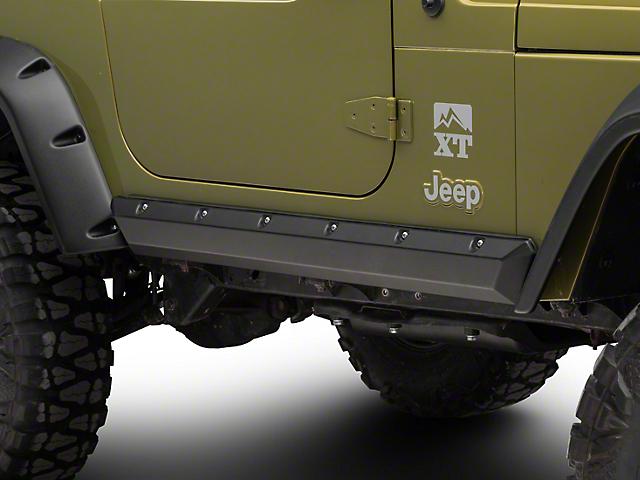 Bushwacker Textured Pocket Style Rocker Panels - Pair (97-06 Jeep Wrangler TJ, Excluding Unlimited)