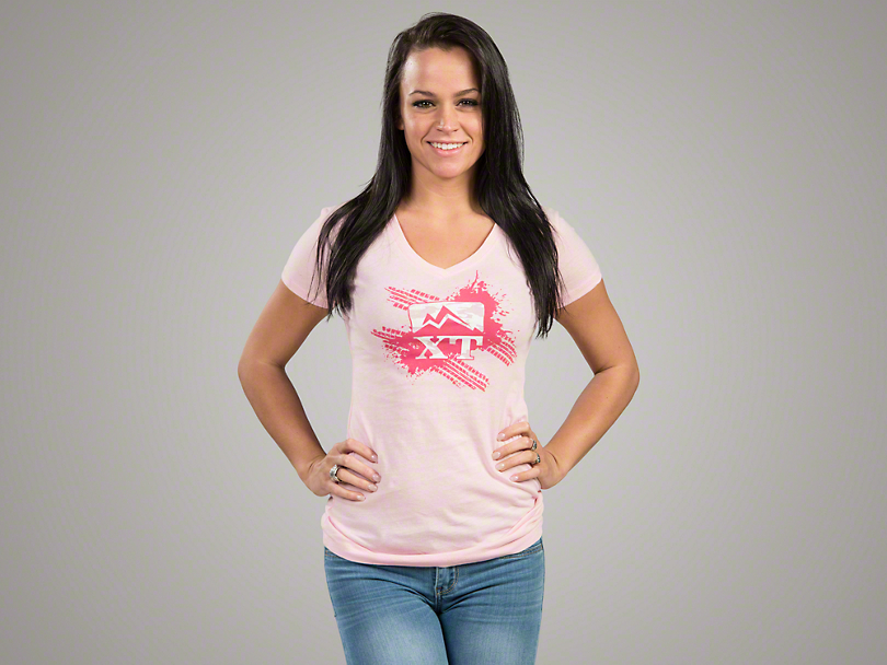 XT Pink Camo Tread T-Shirt - Women's