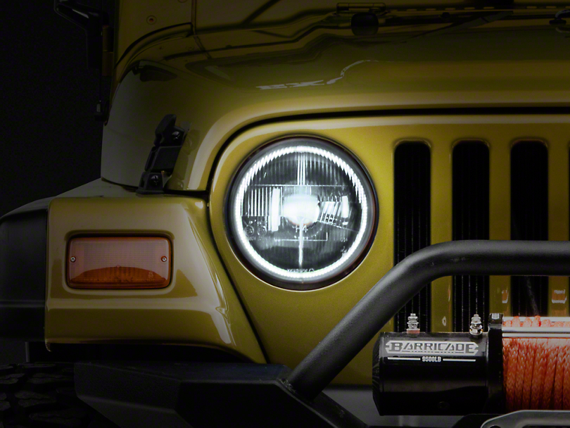 Delta Classic Xenon Halo 7 in. Headlight Kit (97-06 Wrangler TJ)