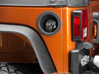 Drake Off Road Black Billet Fuel Cap (01-18 Jeep Wrangler TJ, JK & JL)