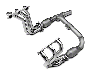 BBK Chrome Full-Length Headers w/ Y-Pipe - Catted (07-11 3.8L Wrangler JK)