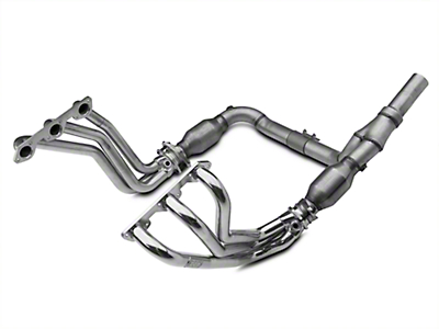 BBK Ceramic Full-Length Headers w/ Y-Pipe - Catted (07-11 3.8L Jeep Wrangler JK)