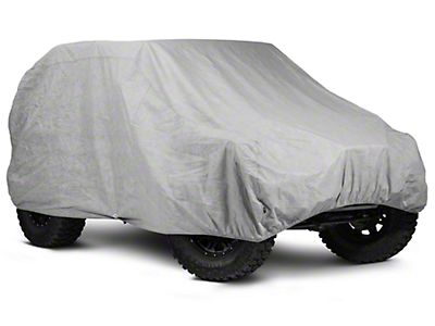 Rugged Ridge 3-Piece Full Car Cover Kit (07-18 Jeep Wrangler JK 2 Door; 2018 Jeep Wrangler JL 2 Door)