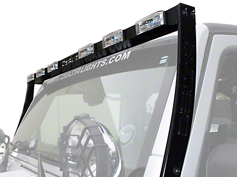 Delta Aluminum HID Skybar Light Bar - Black (07-18 Jeep Wrangler JK)