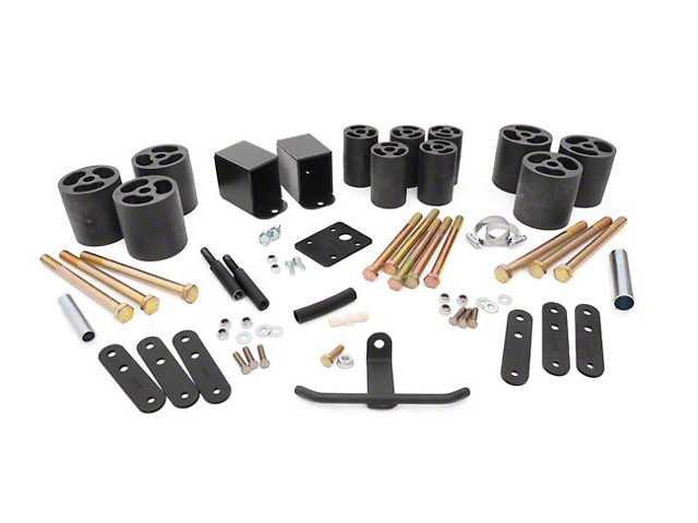 Rough Country 3 in. Body Lift Kit w/o Shocks (87-95 Wrangler YJ)