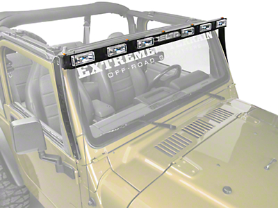 Delta Aluminum Skybar Xenon Light Bar - Black (97-06 Jeep Wrangler TJ)