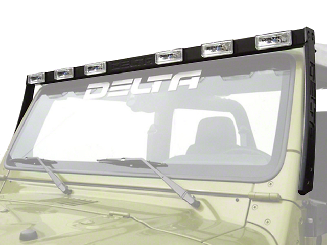 Delta Aluminum HID Skybar; Silver (97-06 Jeep Wrangler TJ)