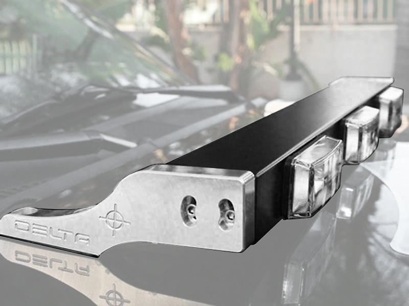 Delta Aluminum H.I.D Hood Light Bar - Black (97-18 Jeep Wrangler TJ & JK)