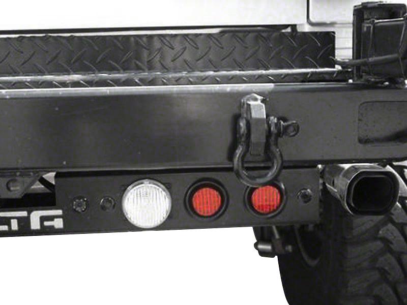 Delta Rear LED Ground Bar with Turn, Stop, Backup Lights, Backup Sensors and Camera (87-18 Wrangler YJ, TJ, JK & JL)