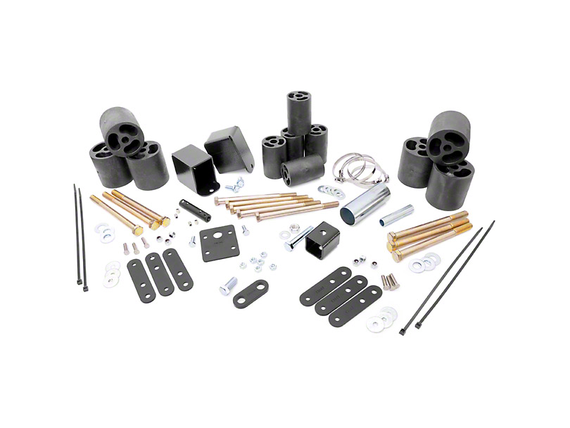 Rough Country 3 in. Body Lift Kit w/o Shocks (97-06 Jeep Wrangler TJ)