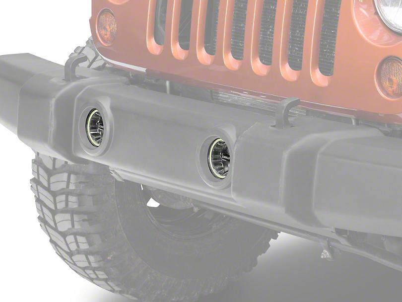 Delta LED Bumper Driving Light w/ HALO (07-18 Jeep Wrangler JK)