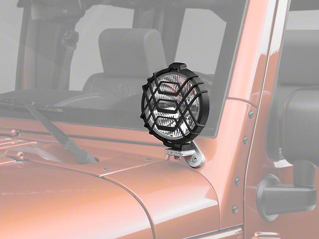 Delta Windshield Mount Driving Light Kit with Brackets (07-18 Jeep Wrangler JK)