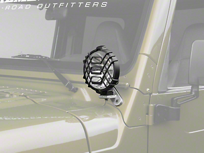 Delta Windshield Mount Driving Light Kit with Brackets (97-06 Wrangler TJ)