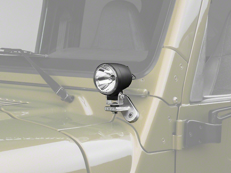 Delta Windshield Mount Search Light Kit w/ Brackets (97-06 Jeep Wrangler TJ)