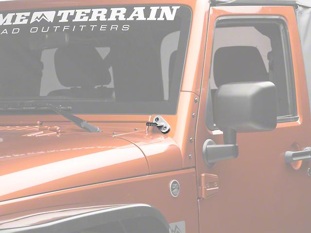 Delta Windshield Billet T-Bracket Set (07-18 Jeep Wrangler JK)