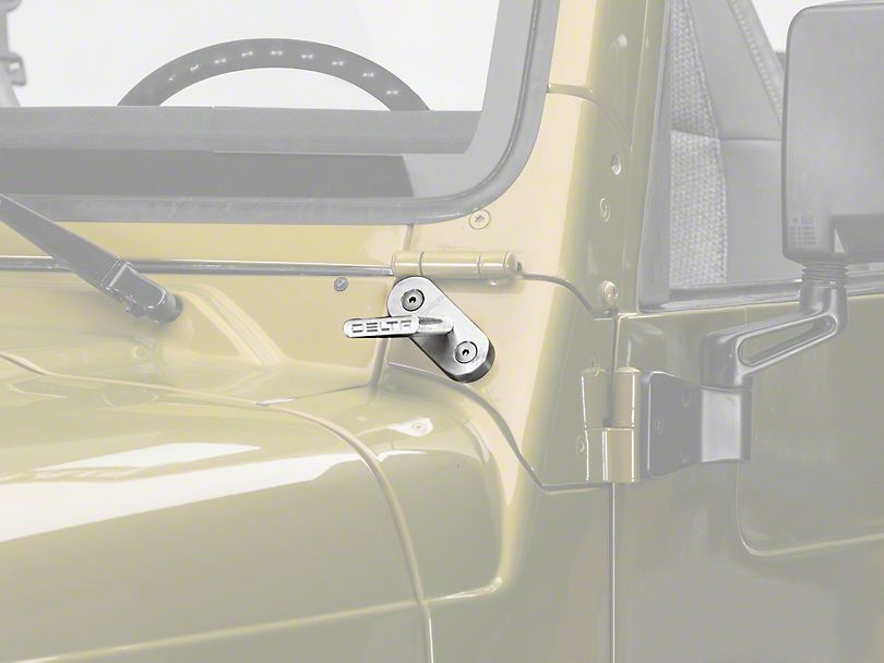 Delta Windshield Billet T-Bracket Set for SearchLights (97-06 Jeep Wrangler TJ)
