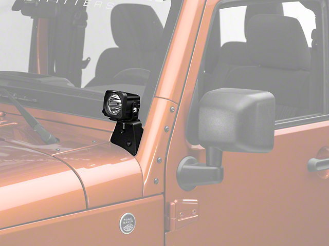 Vision X 3-Inch Optimus LED Cube Lights with A-Pillar Mounting Brackets (07-18 Jeep Wrangler JK)