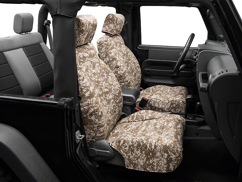 Caltrend Wrangler Desert Camouflage Front Seat Covers W