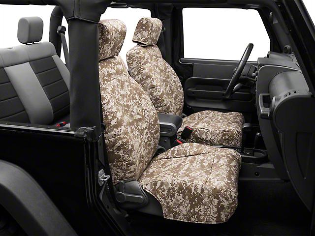 Caltrend Desert Camouflage Front Seat Covers - w/ Airbags (07-10 Jeep Wrangler JK 2 Door)