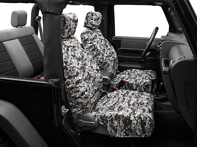 Caltrend Urban Camouflage Front Seat Covers - w/ Airbags (07-10 Wrangler JK 2 Door)