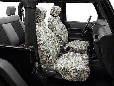 Caltrend Forest Camouflage Front Seat Covers - w/ Airbags (07-10 Wrangler JK 2 Door)