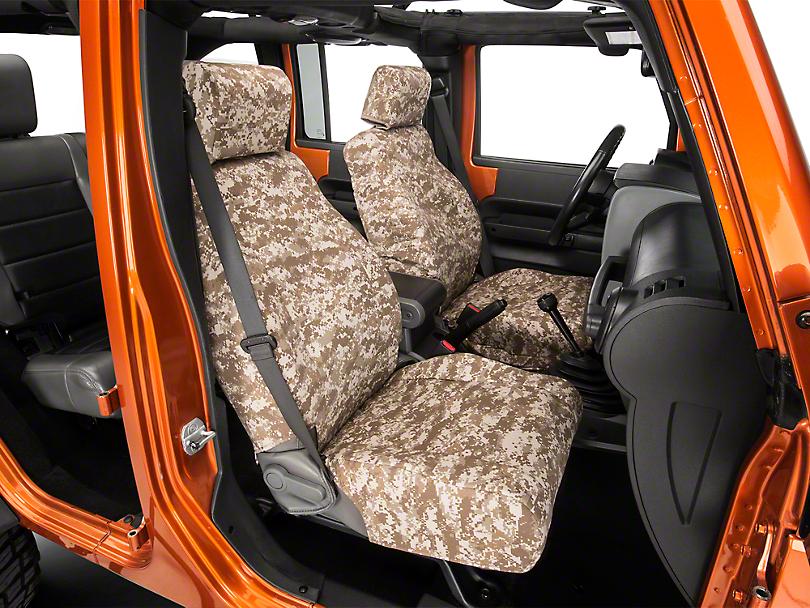Caltrend Desert Camouflage Front Seat Covers - w/ Airbags (07-10 Wrangler JK 4-Door)