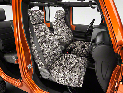 Caltrend Urban Camouflage Front Seat Cover - w/ Airbags (07-10 Wrangler JK 4 Door)