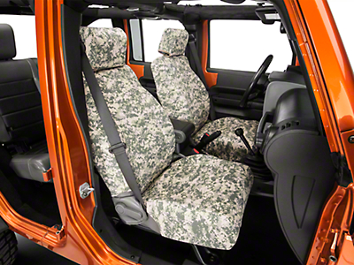 Caltrend Forest Camouflage Front Seat Covers - w/ Airbags (07-10 Wrangler JK 4 Door)