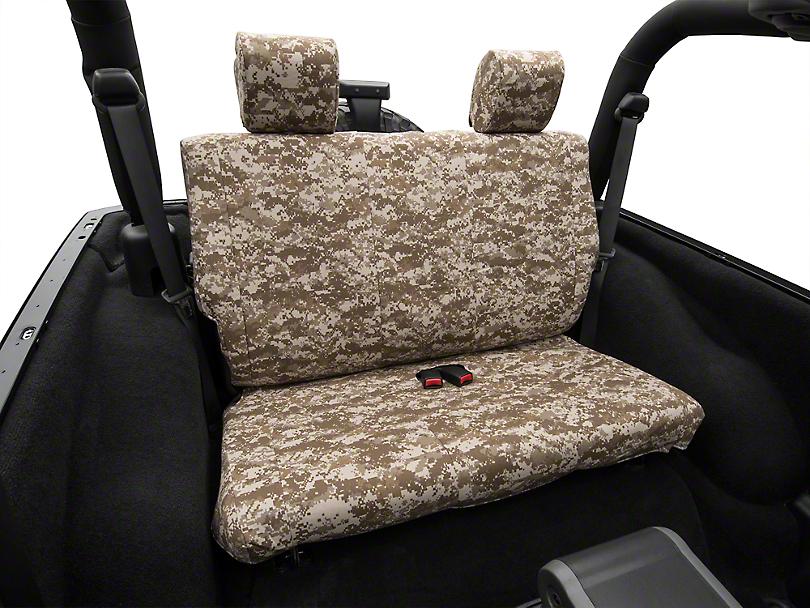 Caltrend Desert Camouflage Rear Seat Cover - Solid Bench (07-10 Jeep Wrangler JK 2 Door)