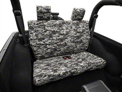 Caltrend Wrangler Urban Camouflage Rear Seat Cover Solid