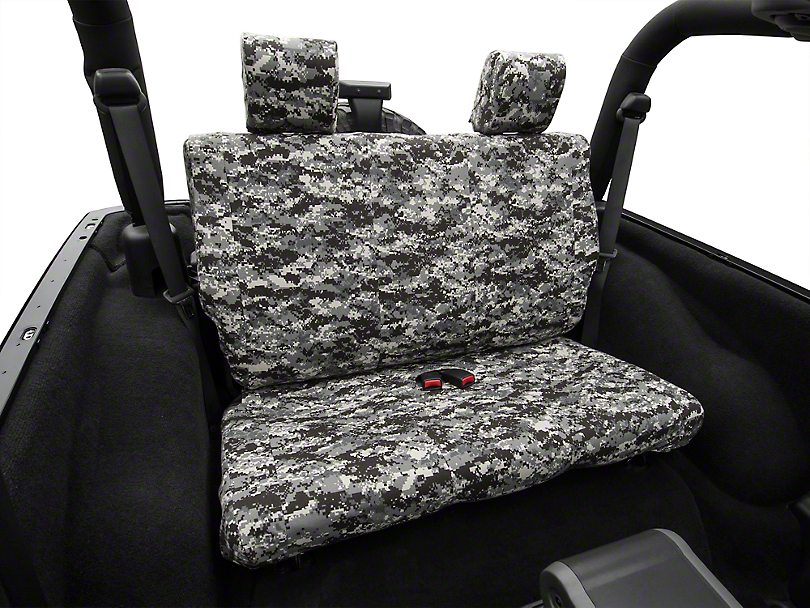 Urban Camouflage Rear Seat Cover - Solid Bench (07-10 Jeep Wrangler JK 2 Door)