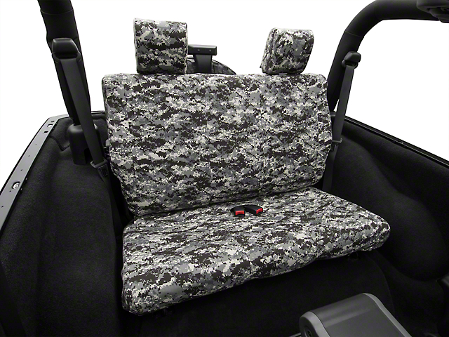 Caltrend Urban Camouflage Rear Seat Cover - Solid Bench (07-10 Wrangler JK 2 Door)