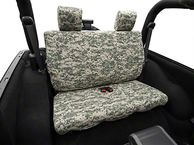 Caltrend Forest Camouflage Rear Seat Cover - Solid Bench (07-10 Wrangler JK 2 Door)
